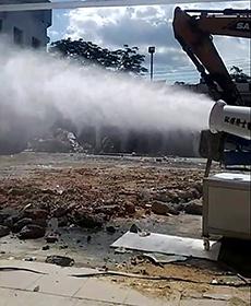 60米除尘喷雾机案例